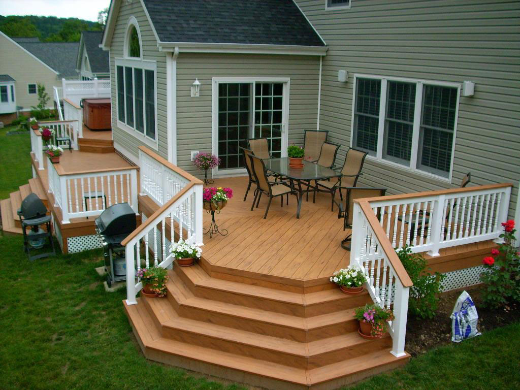 Outside House Decorations Simple Backyard Deck Designs Ideas