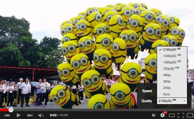 Youtube: arrivano i video in Ultra HD 4K a 60 frame