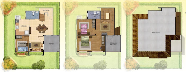 Cypress House Model Floor Plan at Villa Montserrat Taytay