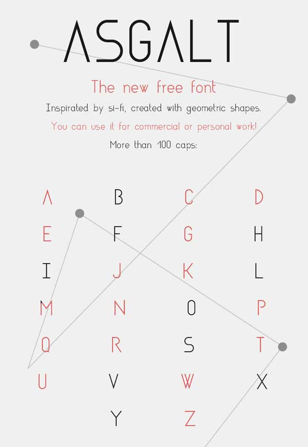 Asgalt The new Free Font