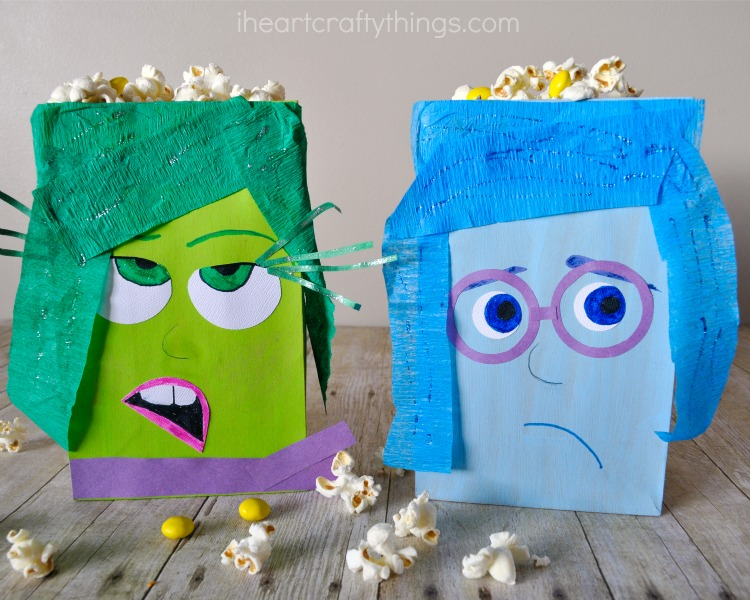How to Make Inside Out Inspired DIY Popcorn Boxes   I Heart Crafty ...