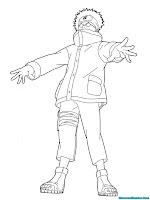 Mewarnai Gambar Shino Aburame Naruto Shippuden