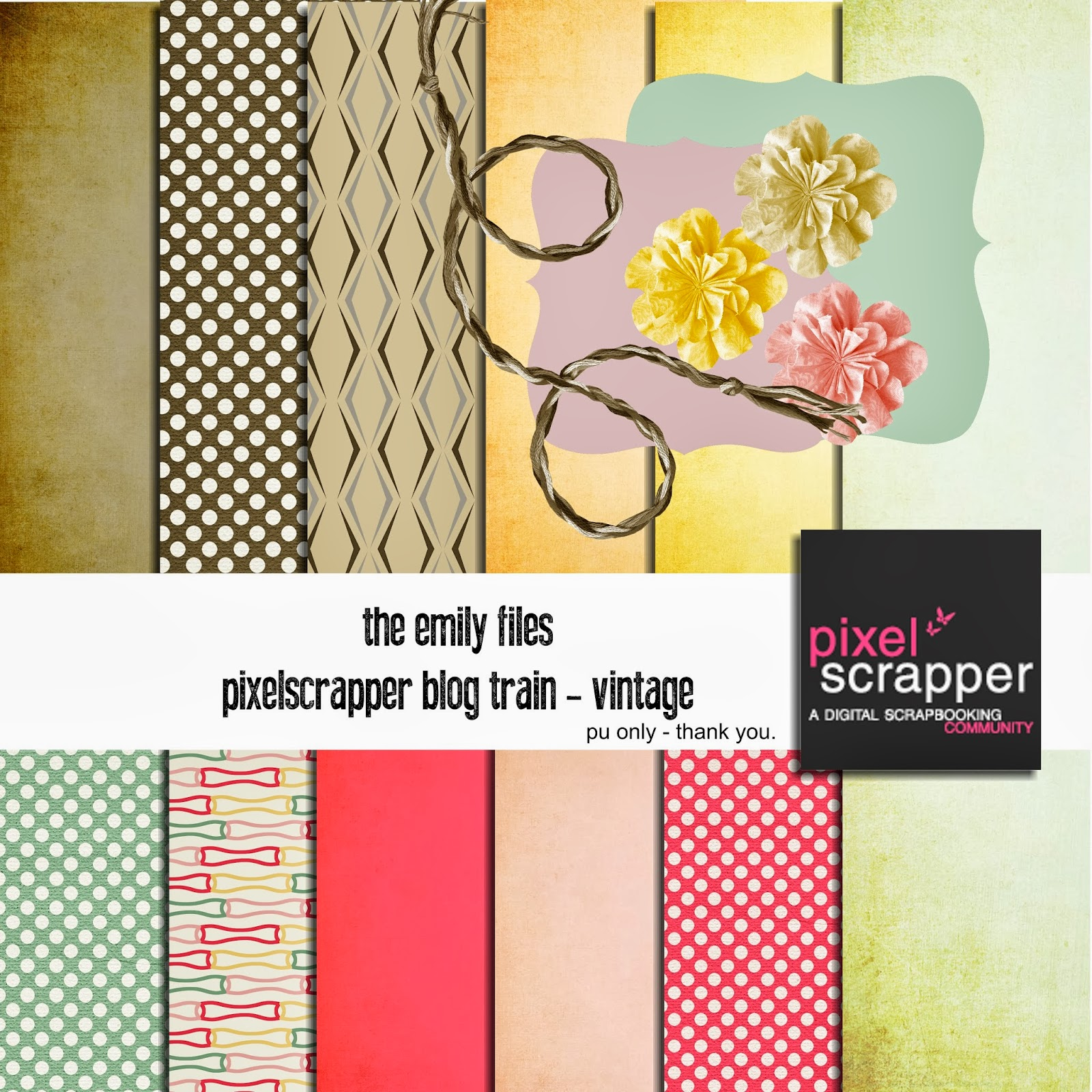 Free Digital Scrapbooking Kit - Vintage