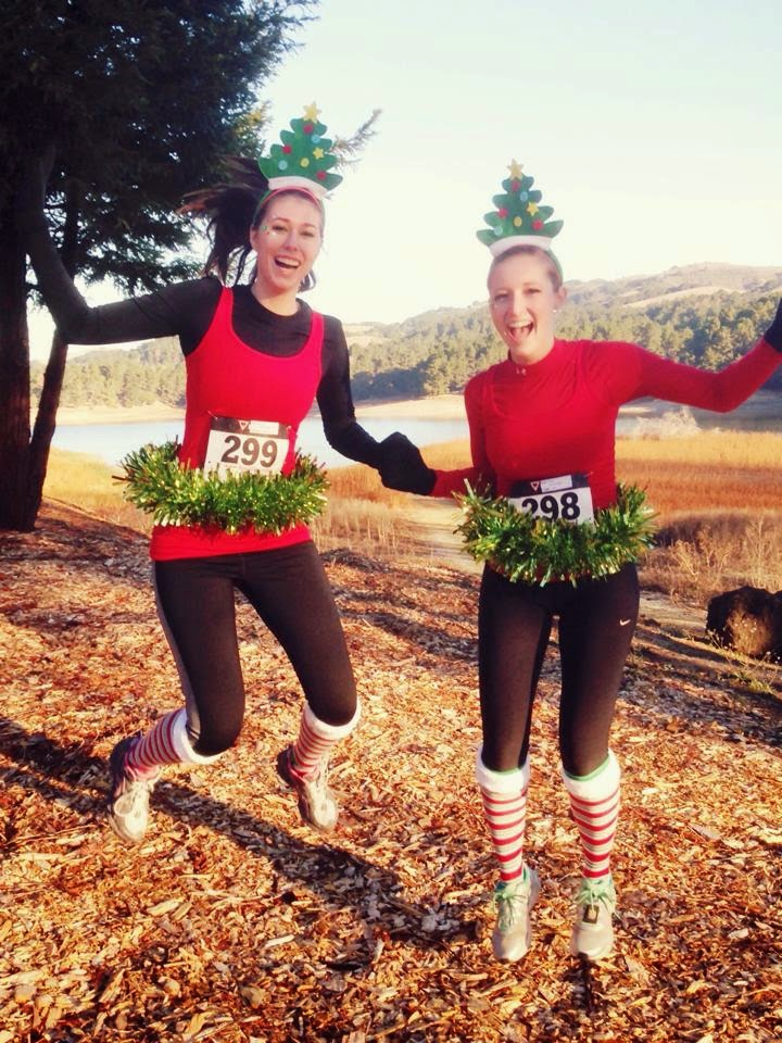 Tinsel Tutus + Running = Happy Sisters