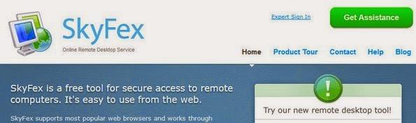 SkyFex free remote desktop software
