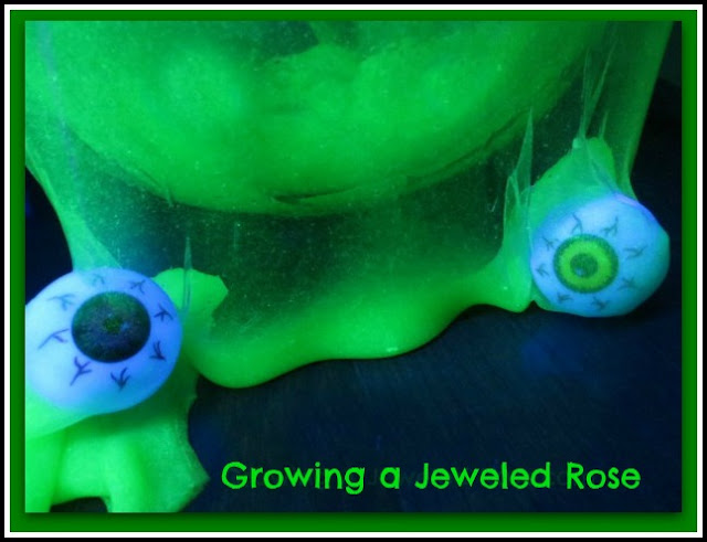 photo of: Glow in the Dark Slime Monster from Growing a Jeweled Rose (via Monster RoundUP from RainbowsWithinReach)