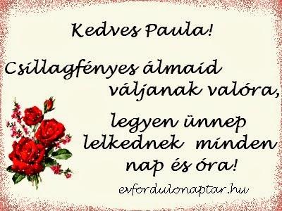 Január 25, Paula névnap