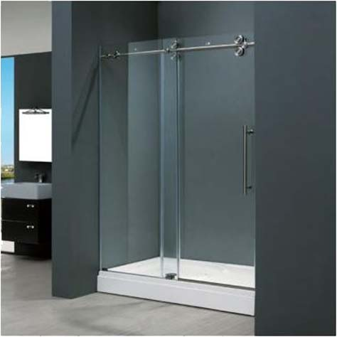 Home design ideas bathrooms frameless sliding doors ideas Sliding glass shower doors
