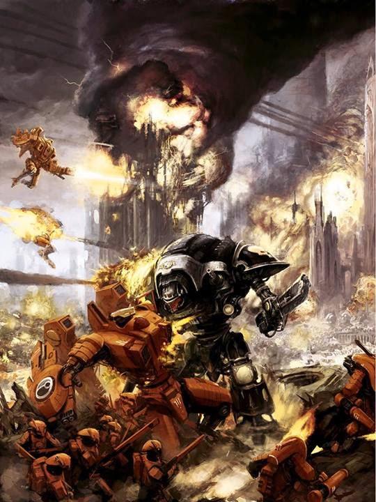 Caballero_Imperial_destruye_XV104_Cataclismo_Tau
