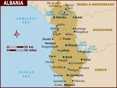 Albania Mapa del País
