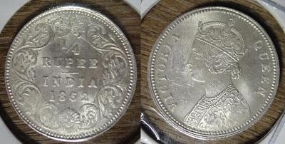 victoria quarter rupee 1862
