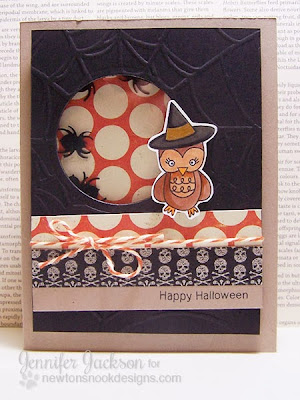 Halloween Shaker Card using Boo Crew by Newton's Nook Designs