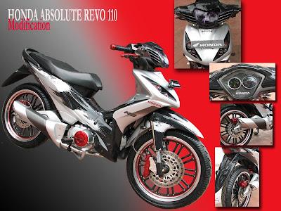 modifikasi revo 100cc -  modifikasi honda revo 100cc gambar modifikasi honda revo
