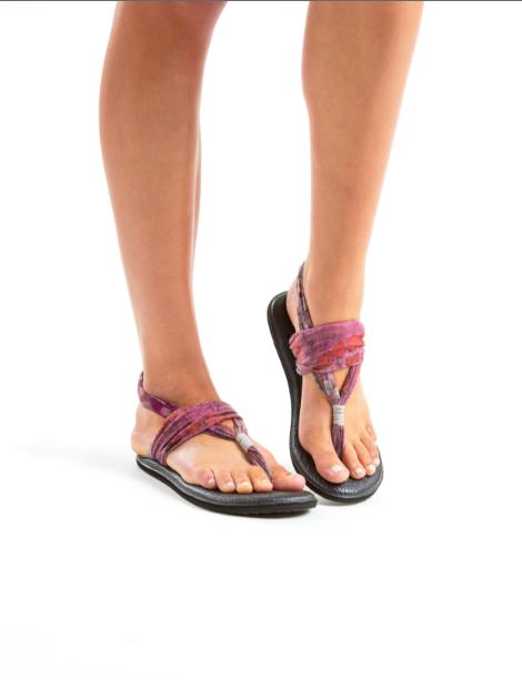 Sanuk Yoga Mat Sandals On Walking Peacefully The Beauty
