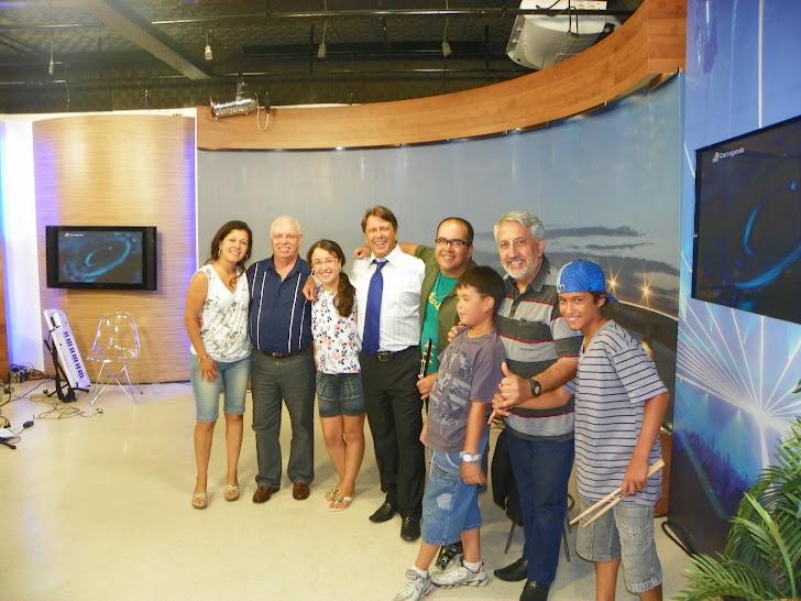 Surfistas da Paz no Programa Bibo Nunes Show, nos Estúdios da Ulbra TV.
