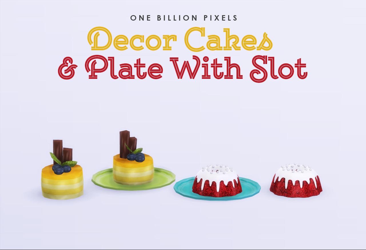 Decor cakes plate with slot one billion pixels - Plaque decorative cuisine ...