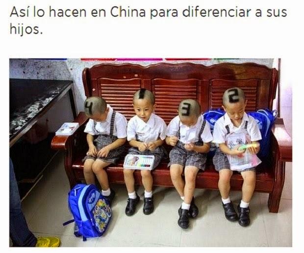 Diferenciar a sus hijos Nivel China