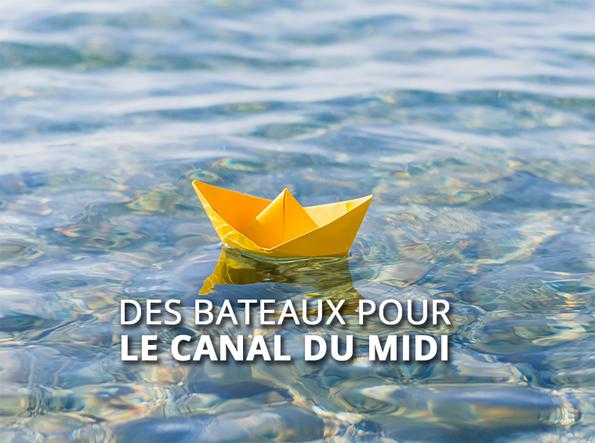 Des bateaux pour le canal du Midi ©VNF