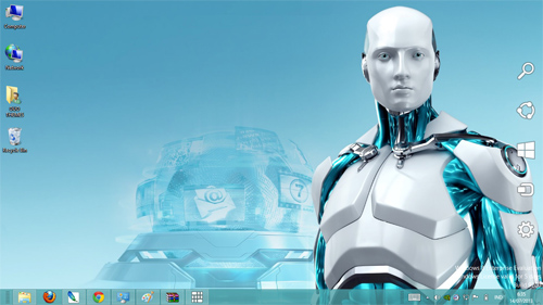 Eset Nod 32 Robot Theme For Windows 7 And 8