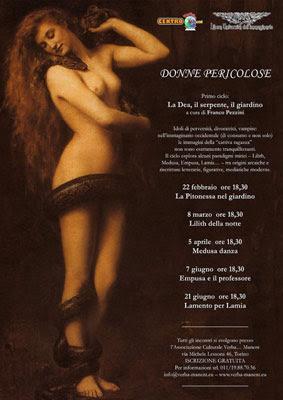 Donne Pericolose: La Dea, il serpente, il giardino, locandina