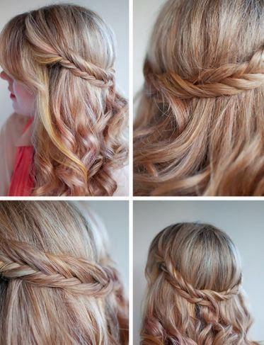 peinado romántico con cabello semi suelto ~ manoslindas