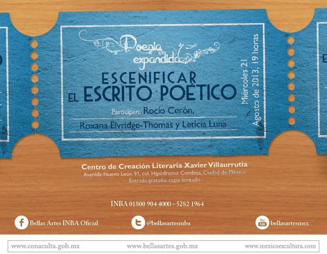 """Escenificar el escrito poético durante la nueva sesión del ciclo """"Poesía expandida"""" en el CCLXV"""