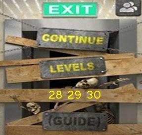 100 Doors of Revenge Level 28 29 30 Walkthrough