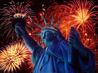 Gambar Kembang Api Tahun Baru 2016 Liberty New York Fireworks Happy New Year HD Wallpaper