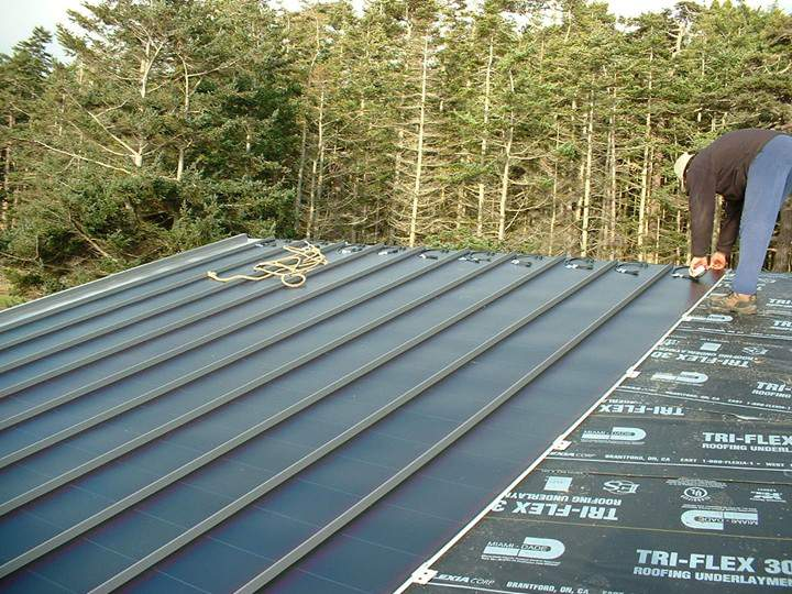 Flat Metal Roof Panel http://metal-roof.blogspot.com/2008/11/building-green-home-tips.html