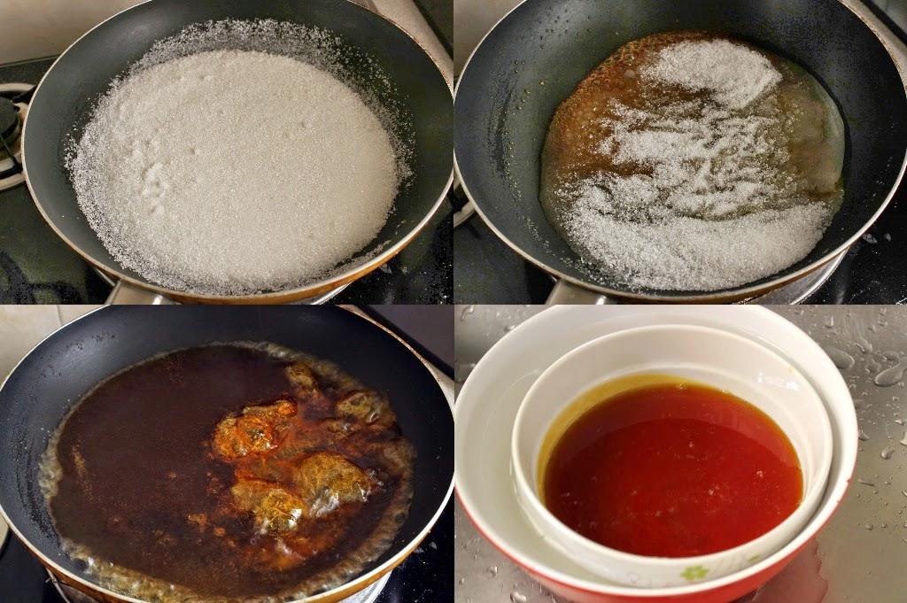 Steam Caramel Cake Step 1