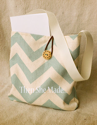 chevron stripe fabric gift bag