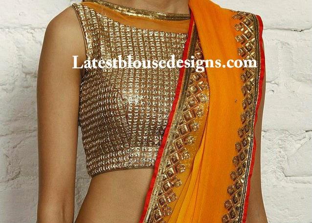 gold color blouse