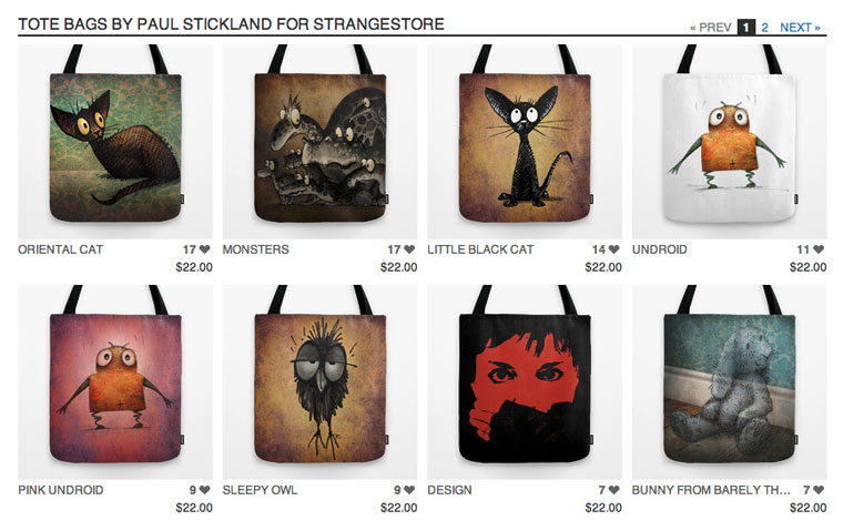 strangestore on society6, strangestore, paul stickland,