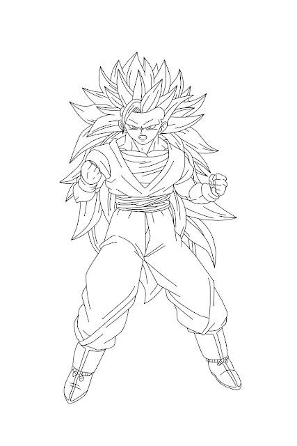 Desenho Goku Para Colorir