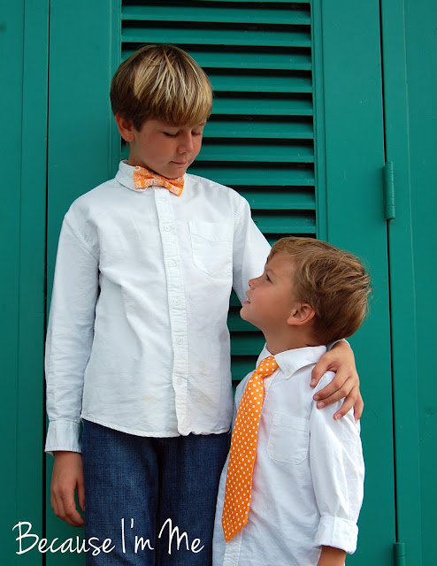 Because I'm me orange neckties and bow ties for boys and men