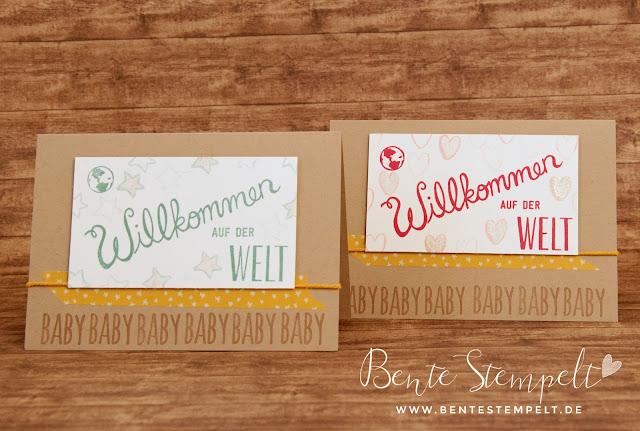 Stampin' Up! Herzlich Willkommen Stempelset Frühjahrskatalog 2016 Sneak Peek Babykarte Karte zum Einzug