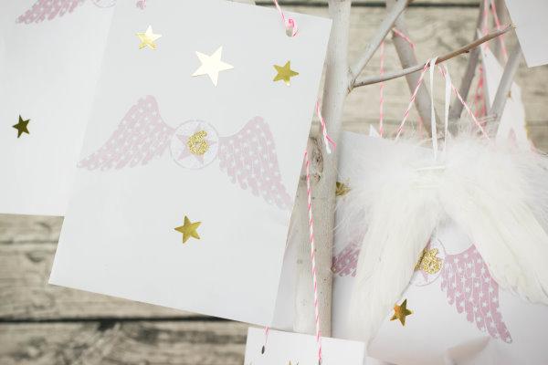 Briefumschläge als Adventskalender
