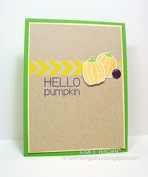 Hello Pumpkin card-designed by Lori Tecler/Inking Aloud-stamps from Reverse Confetti