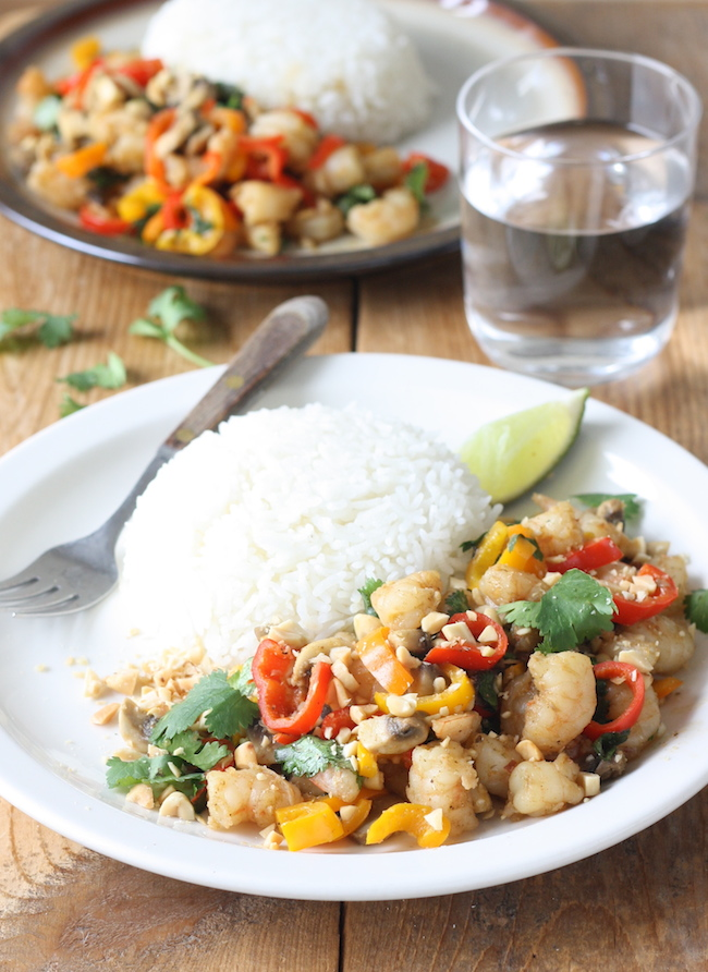 Thai Shrimp & Veggie Stir Fry by SeasonWithSpice.com