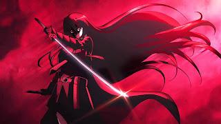 Tapeta Full HD z Akame Ga Kill z Akame skąpaną w czerwieni