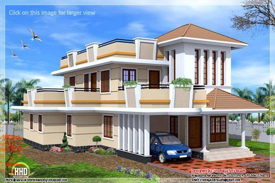 2 storey Kerala house