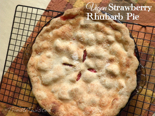 Vegan Strawberry Rhubarb Pie | Tried & Twisted