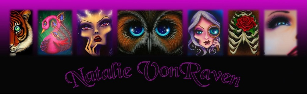 Natalie VonRaven - Vibrant Acrylic Paintings - Faces, Characters & Animals