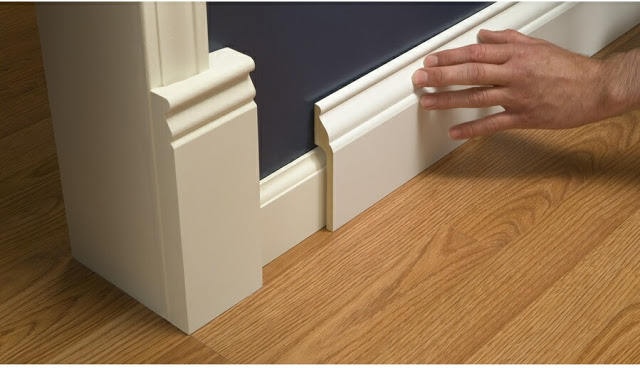 Install Wide Baseboard Over Narrow