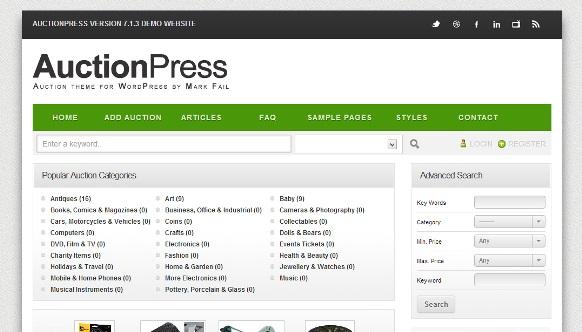 AuctionPress WordPress Theme v7.1   Code Premium