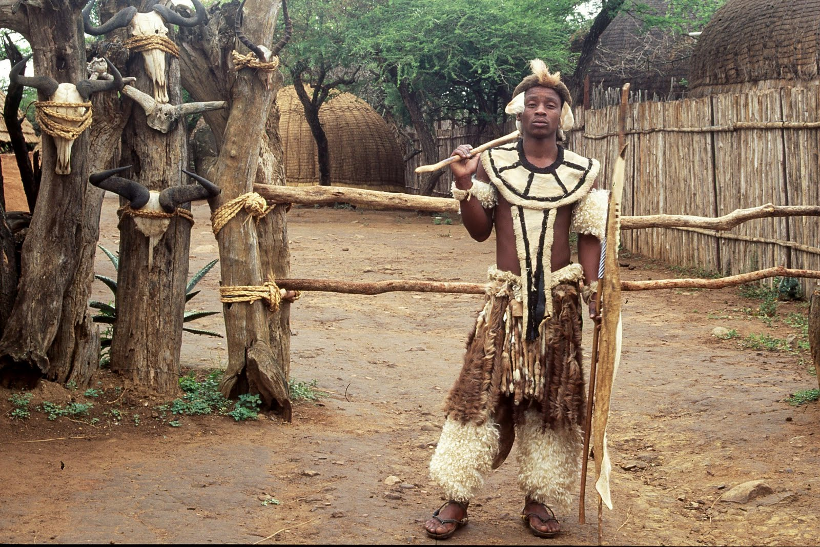 Zulu Shakaland Zulu in traditional dress, Shakaland
