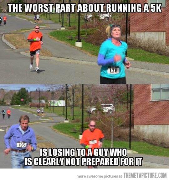Correr y no mirar a los lados