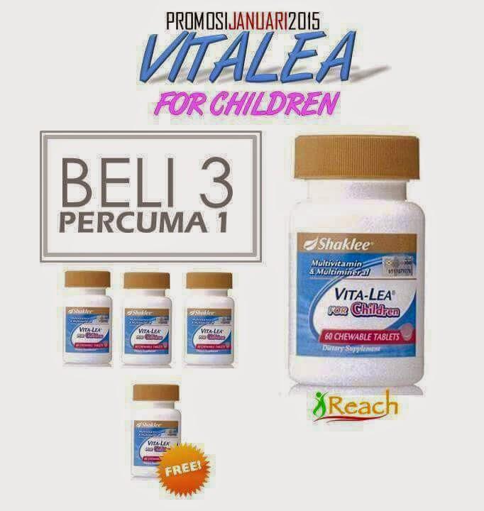 Vivix, Alfalfa dan VitaLea Children pilihan Promo Shaklee Januari