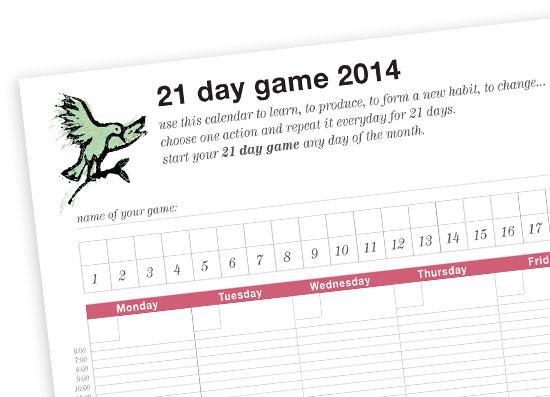 21 day game by Yukié Matsushita
