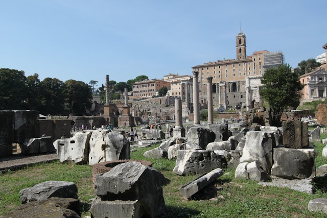 The Roman Forum was the marketplace in Rome, Italy during the Roman empire era